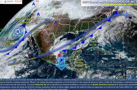 Ambiente muy frío y lluvias para este 31 de diciembre en Sinaloa y otros estados: SMN