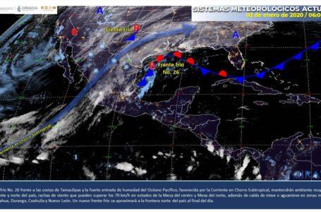 Ambiente frío y heladas para el noroeste de México: SMN