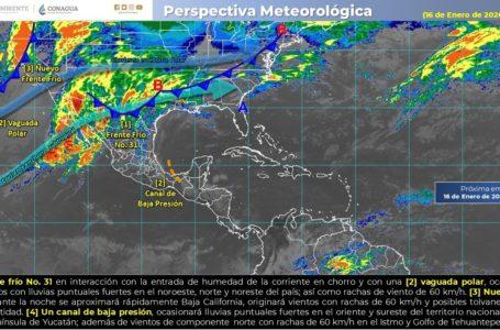 📹Frente frío no. 31 impactará norte de México