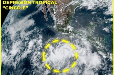 Se forma depresión tropical Cinco-E en el Pacífico