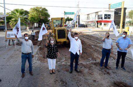 Inician rehabilitación de calle Belisario en Los Mochis