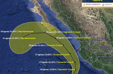 Se forman dos depresiones tropicales en el Pacífico, pronostican lluvias para Sinaloa