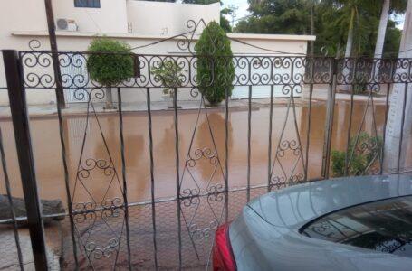 Anegados vecinos de la Bugambilia por alcantarilla tapada, denuncian