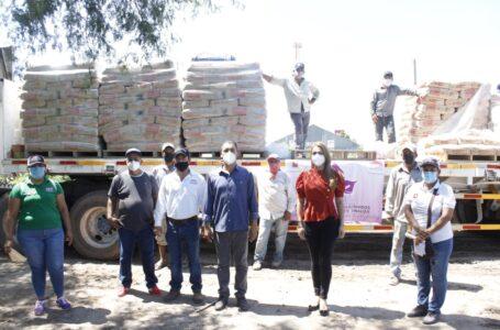 Más de 37 toneladas de material para la construcción se destinarán a familias de El Fuerte