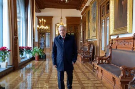 Ante rumores, reaparece AMLO, envía mensaje desde Palacio Nacional