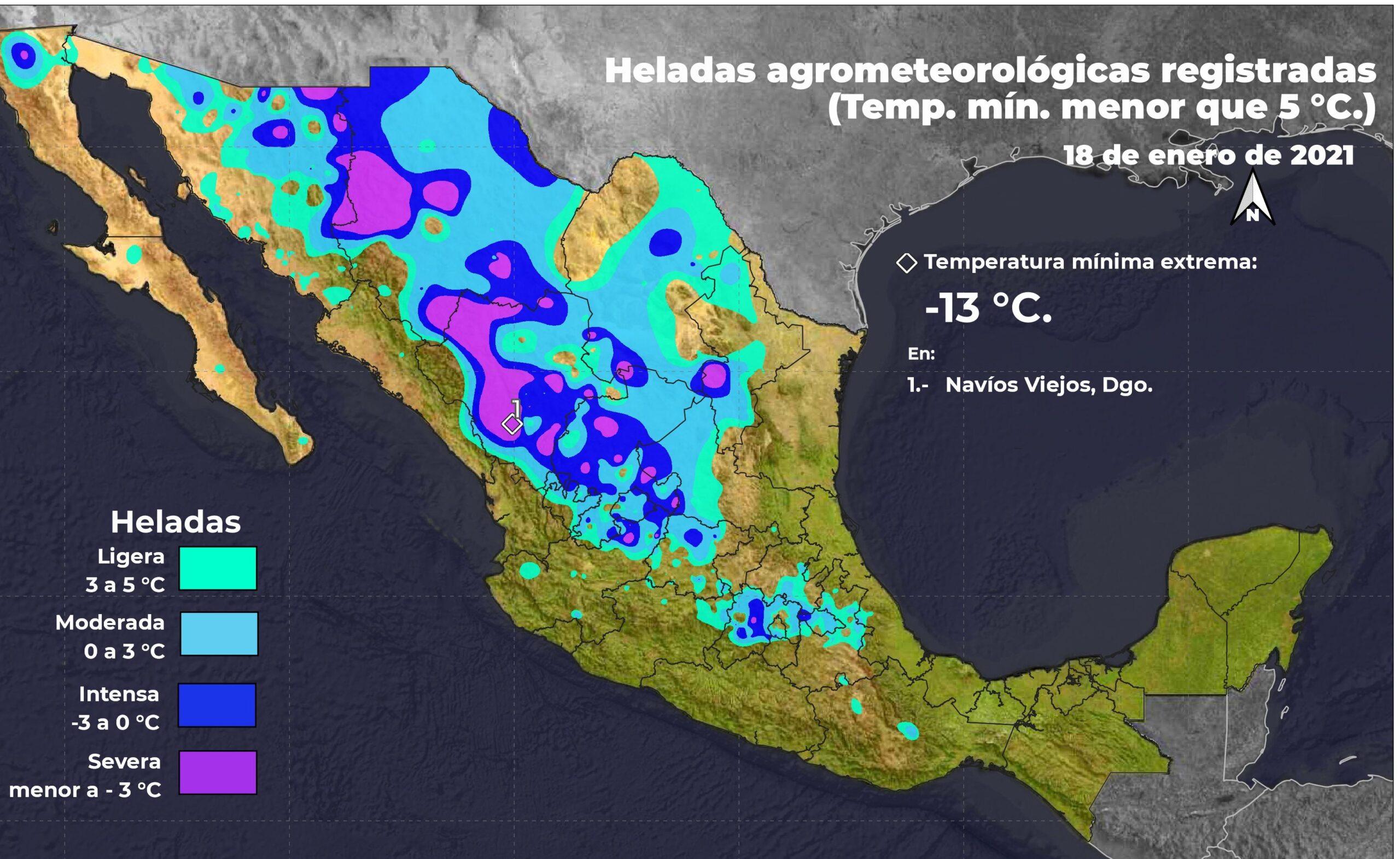 Nevadas a partir de este martes en BC, Sonora, Chihuahua y Durango, pronostican