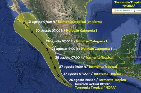 Se forma tormenta tropical Nora, se dirige a BCS